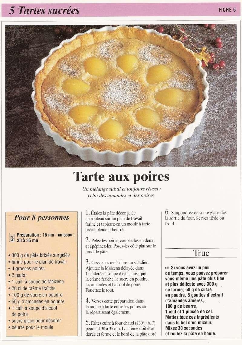 Les tartes sucrés Calend16