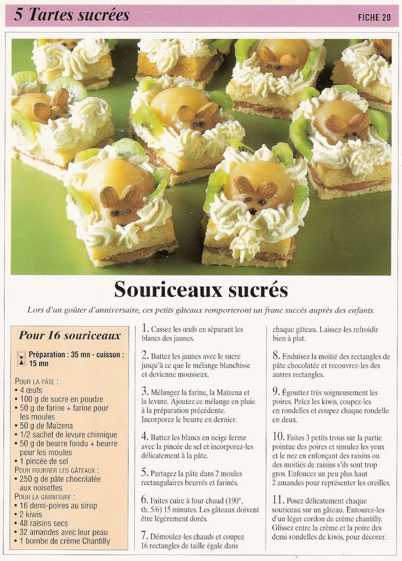 Les tartes sucrés Calend21