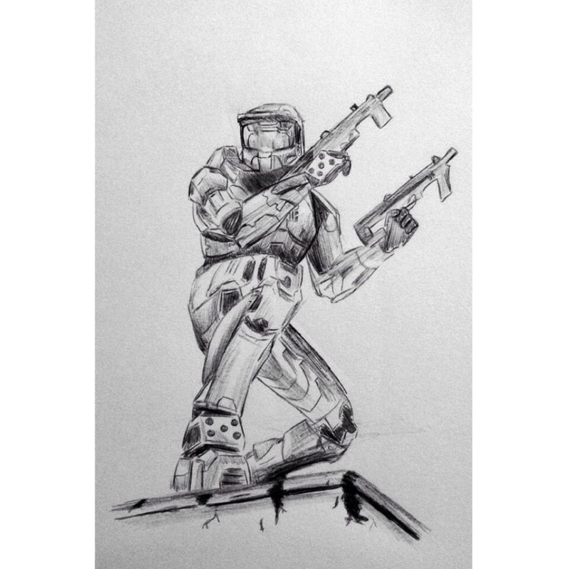 I thought I'd share some of my Halo Artwork :) 10540810