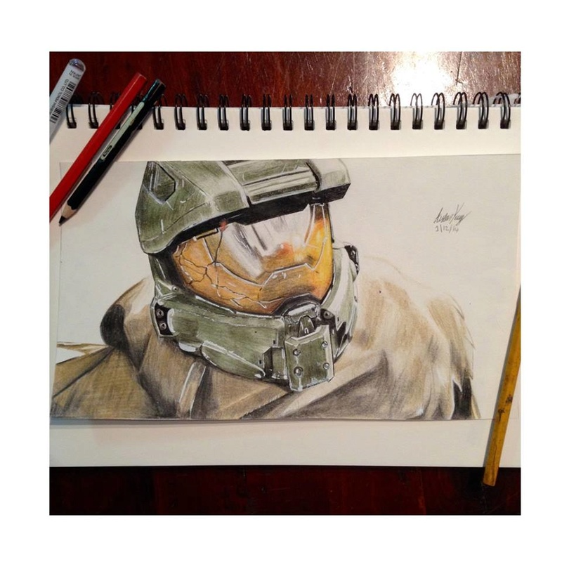 I thought I'd share some of my Halo Artwork :) 10615410