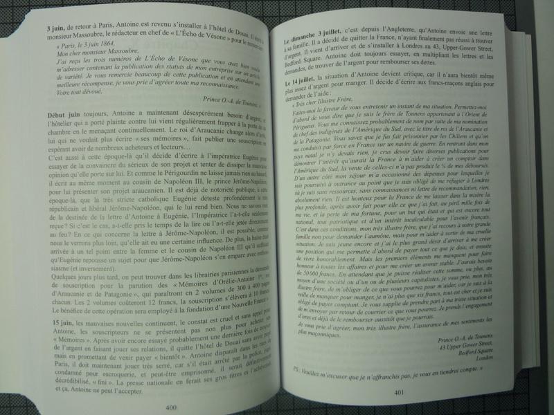 nouvelle biographie de SM Antoine de Tounens 186411