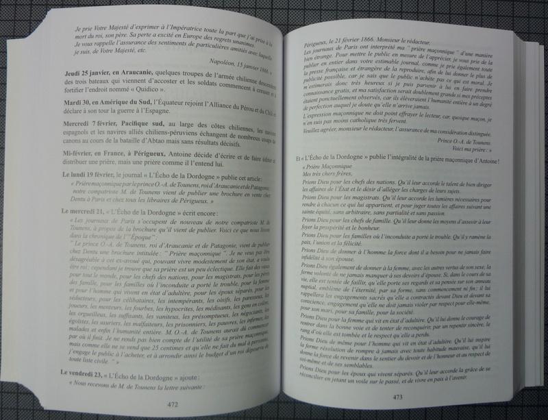 nouvelle biographie de SM Antoine de Tounens 186611