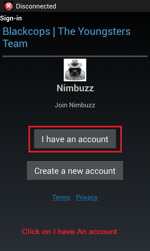 Nimbuzz anti dc for android by blackcops N110