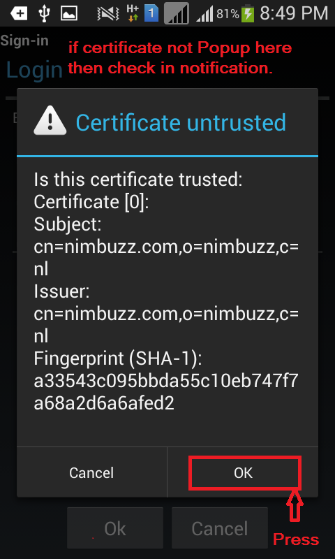 Nimbuzz anti dc for android by blackcops N410