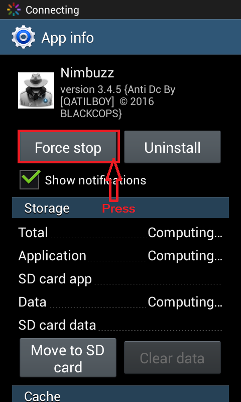 Nimbuzz anti dc for android by blackcops N710