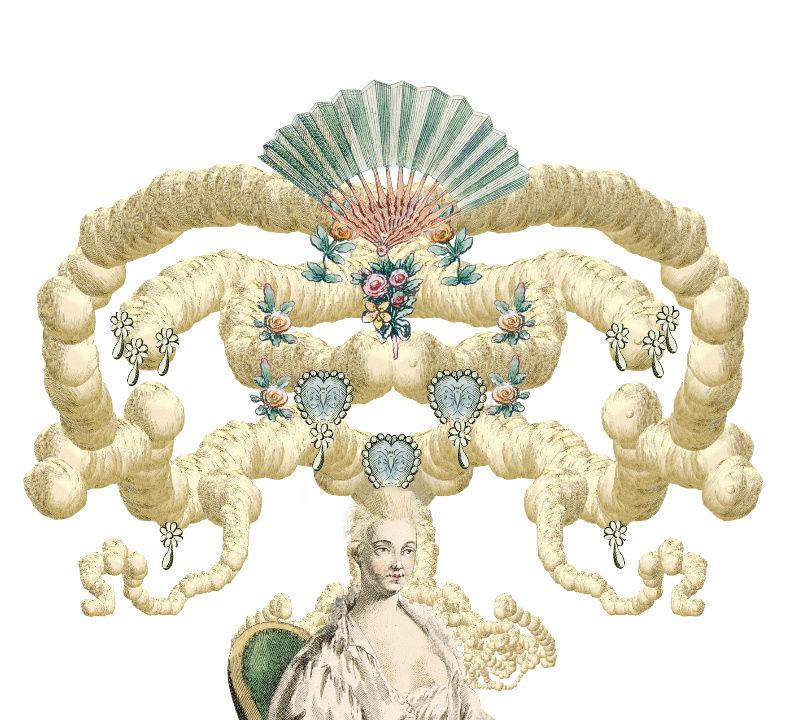 Amusement : Création d'une perruque à la mode du XVIIIè siècle - Page 2 Canvas15