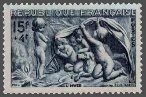 Le sculpteur Edme Bouchardon, une idée du beau. Timbre10