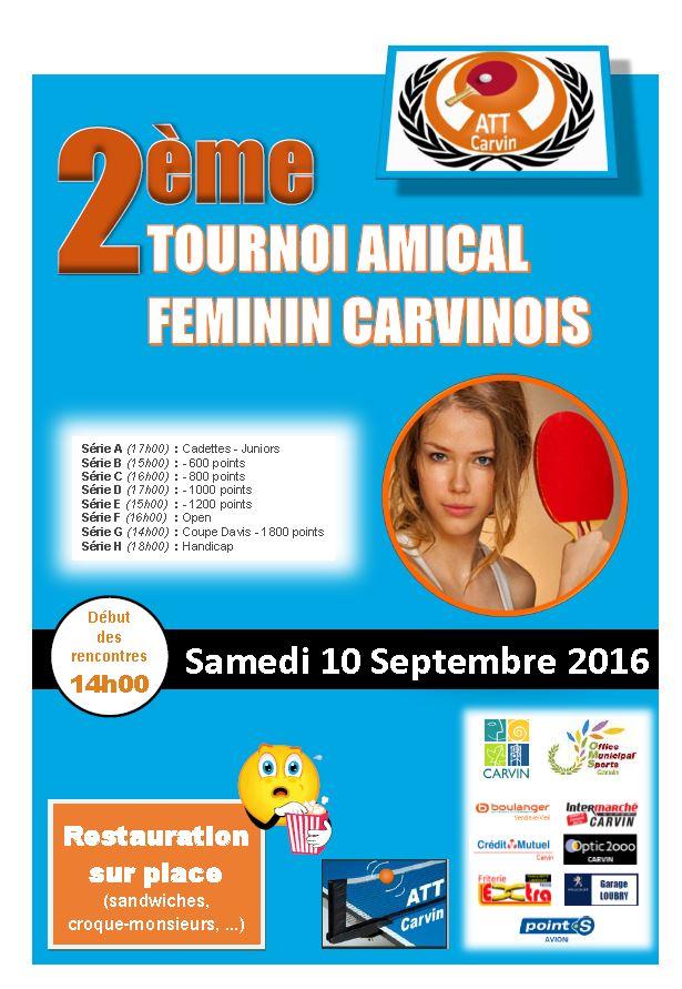 ATT Carvin - Tournoi Féminin du samedi 10 septembre 2016 Tourno10