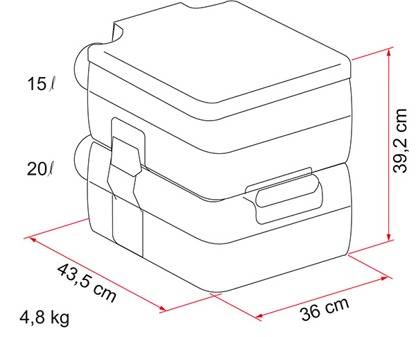 Vend WC Chimique FIAMMA Bi-Pot 39  01355-11