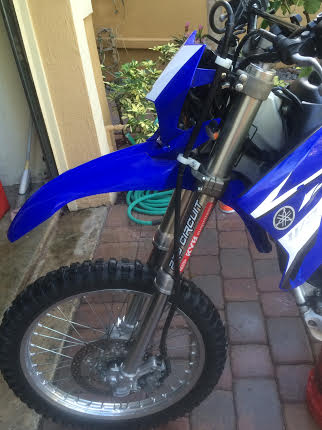 03 YZ450F forks on a WR250R is this possible?