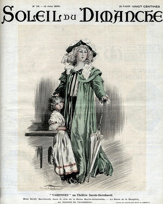 'Varennes' with Sarah Bernhardt Zfont10