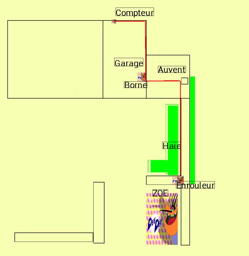 Installation borne avec rallonge Plan10