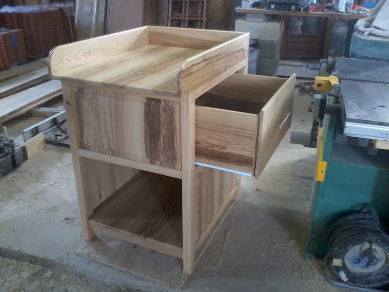 Table à langer en frêne Photo014