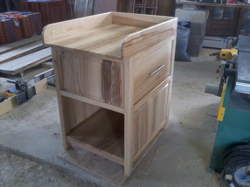 Table à langer en frêne Photo018