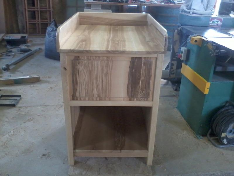 Table à langer en frêne Photo020