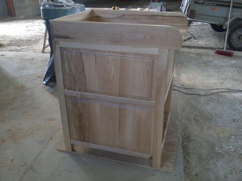 Table à langer en frêne Photo021