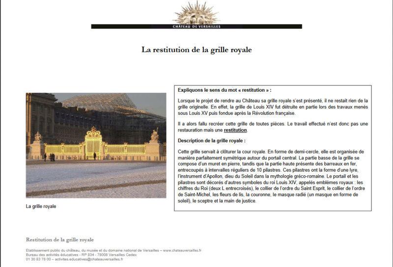 La grille du château Captur10
