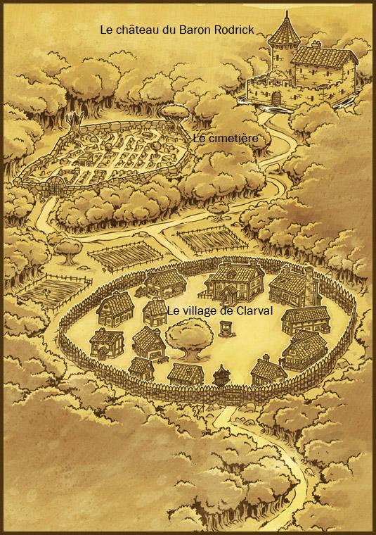 Le plan de Clairval et de ses environs Clairv10