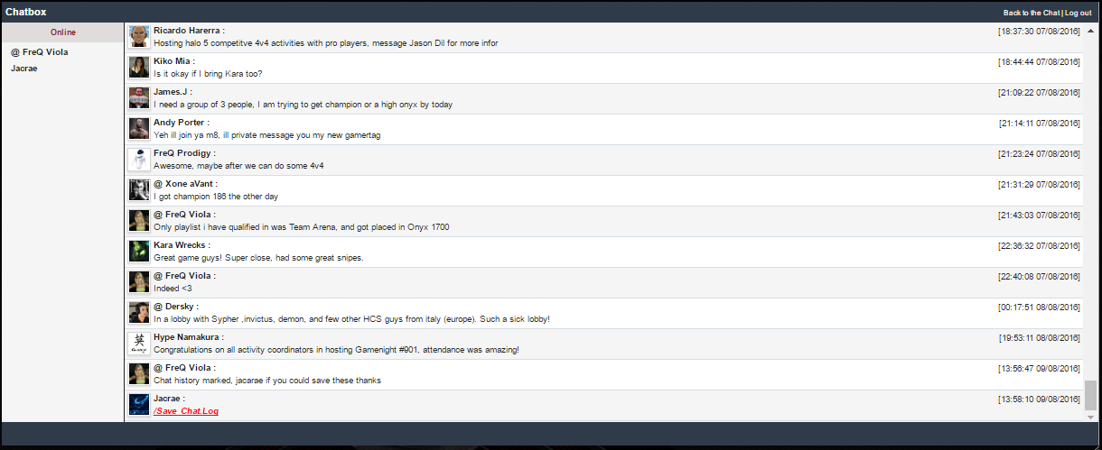 Chatbox Archive History - July 2016 Chat Box Archive... July_c22