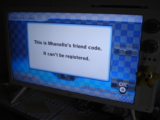 Friend Code it can´t be registered. I need help. Dsc01311