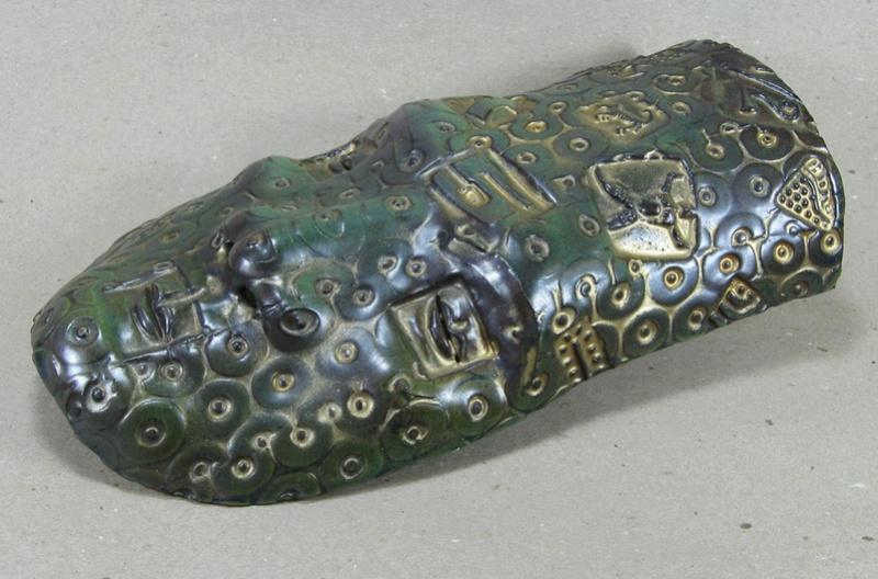 "Studio pottery MID CENTURY STYLE MASK signed ""Stewart"". Any ideas? Mask210"