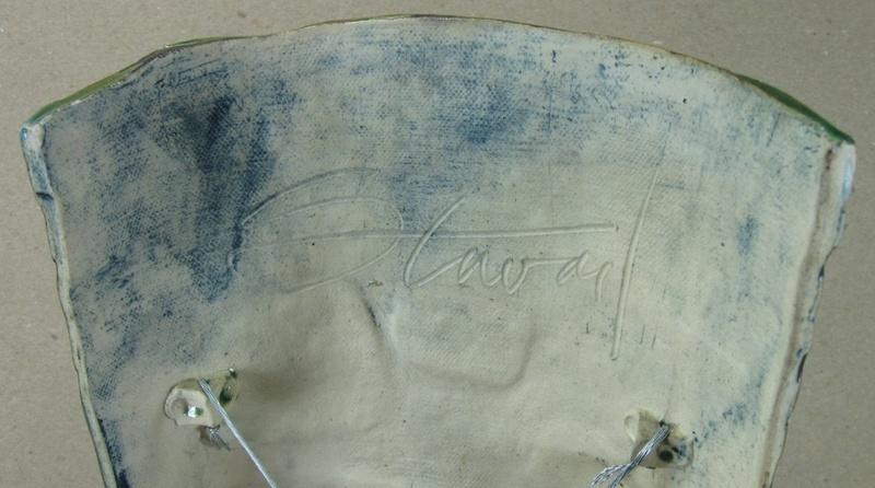 "Studio pottery MID CENTURY STYLE MASK signed ""Stewart"". Any ideas? Mask310"