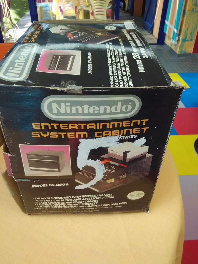 Boite vide meuble Nintendo nes cabinet Img_2021