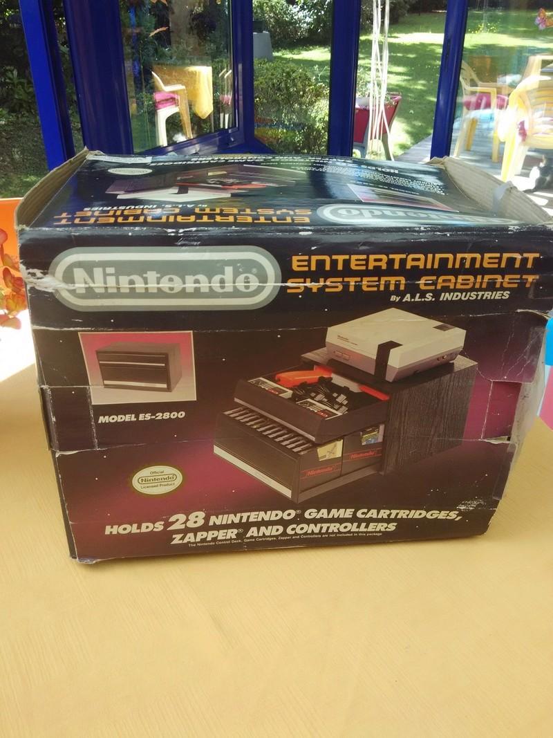 Boite vide meuble Nintendo nes cabinet Img_2023