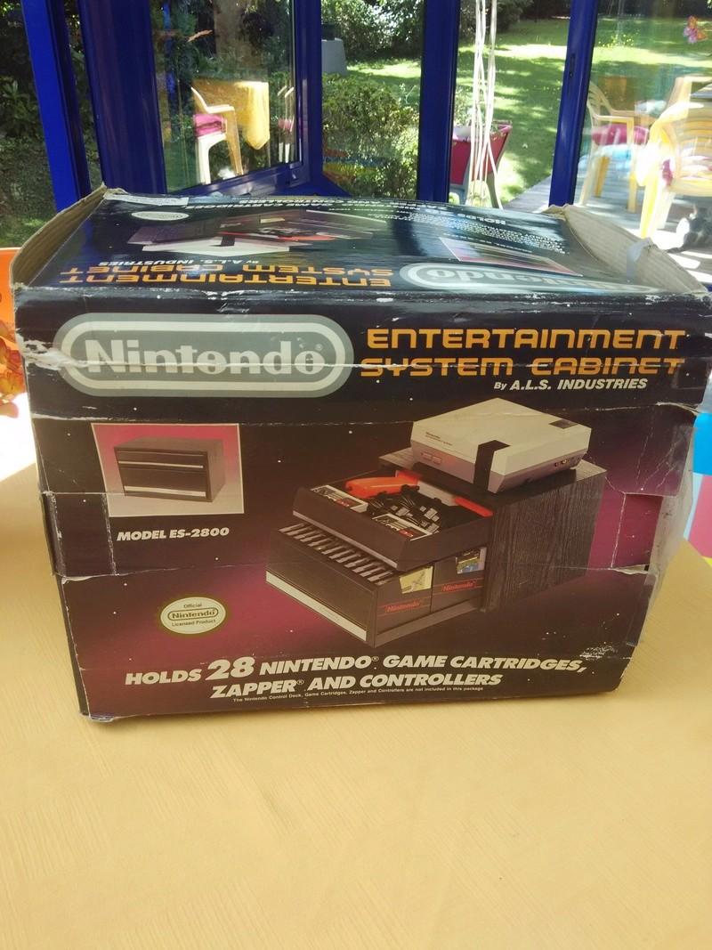 Boite vide meuble Nintendo nes cabinet Img_2024