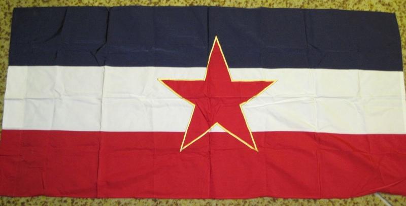 1950s YUGOSLAVIAN Embassy Flag US manufature  Flag10