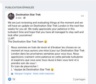 Destination Star Trek London novembre 2020 Captur20