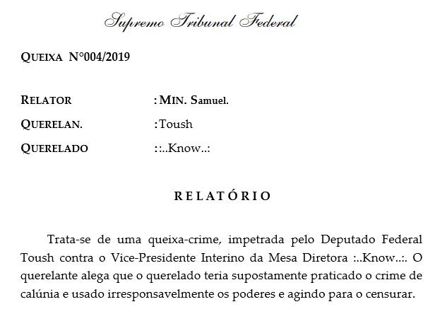 [QUEIXA] Queixa 004/2019 [1T] Sem_t151