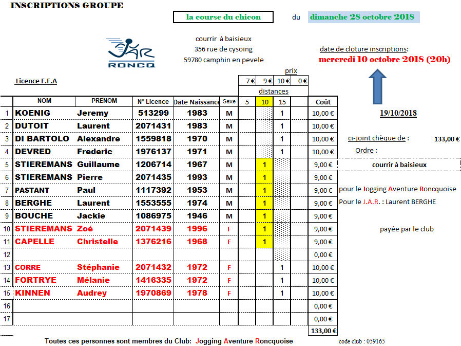 inscriptions course[LA COURSE DU CHICON] Image414