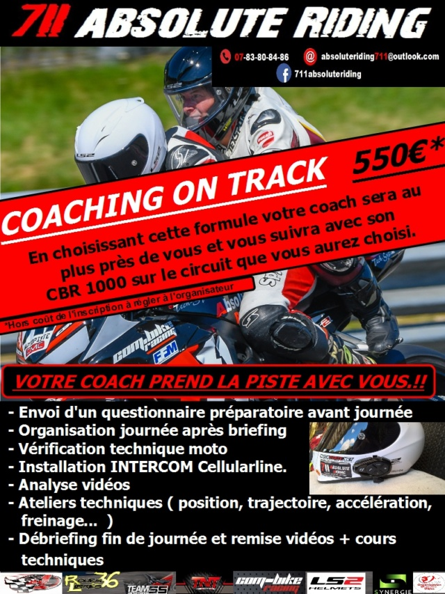 CALENDRIER COACHING BAPTEMES 2018 Formul13