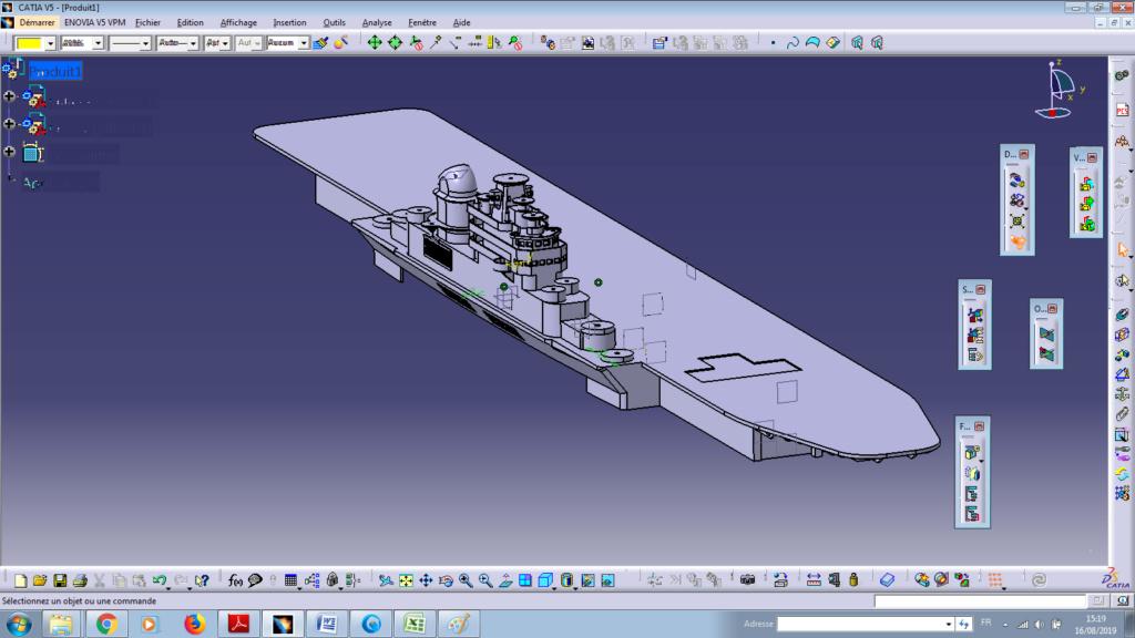 Projet fictif d'un porte avion Français inspiré du Joffre - Page 2 Assemb11