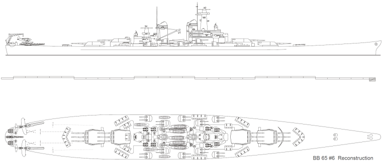 USS MONTANA maquette RC 1/400 Bb65-610
