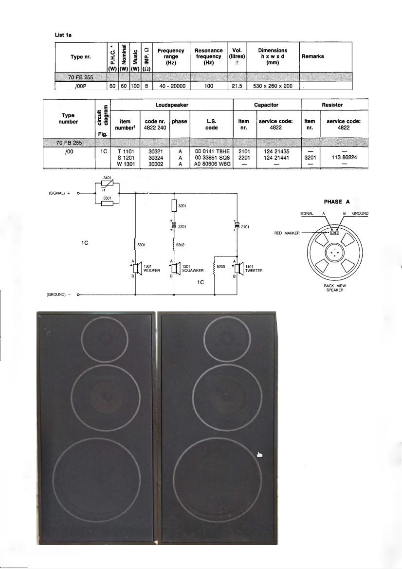 Altavoces vintage Philips 70fb2510
