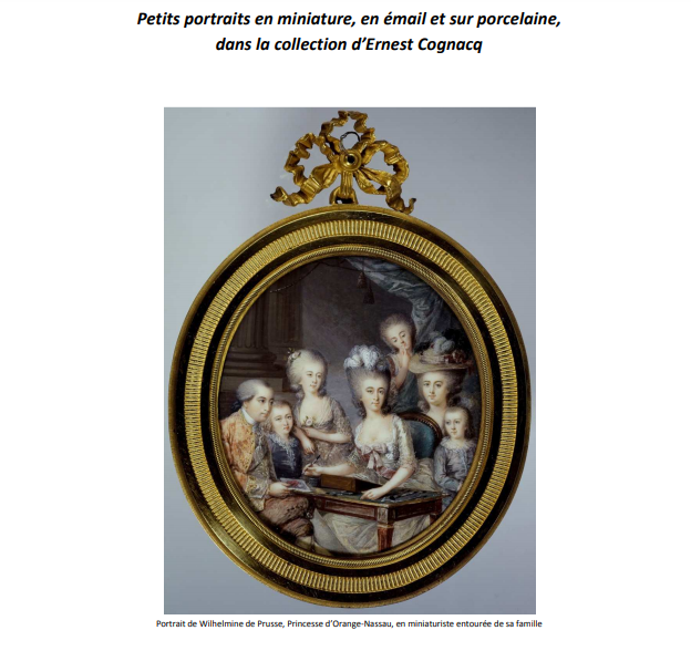 Petits portraits en miniature, en émail et sur porcelaine, dans la collection d'Ernest Cognacq  Zzzz210
