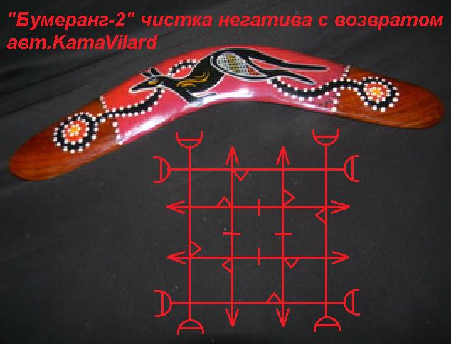 """""""Бумеранг-2"""" (чистка негатива с возвратом) Автор Kama Vilard"""