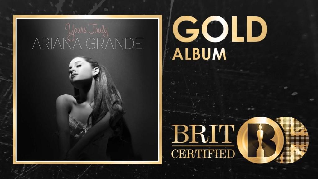 Yours Trully da Ariana Grande recebeu certificado de Ouro no Reino Unido por vender 100K. Img_2042