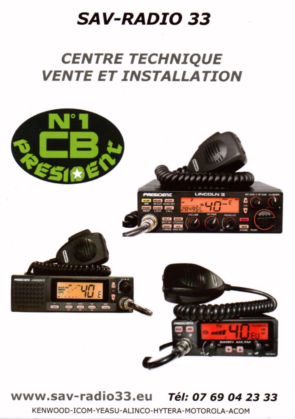 --> SAV-Radio33 - Service Après Vente Radio 33 (Sud-Ouest France) New-110