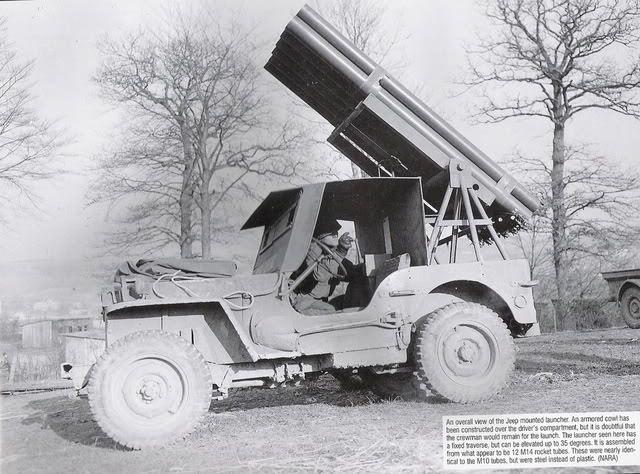 JEEP rocket launcher T36 sur base ITALERI N° 6355 1/24 Ob_31310