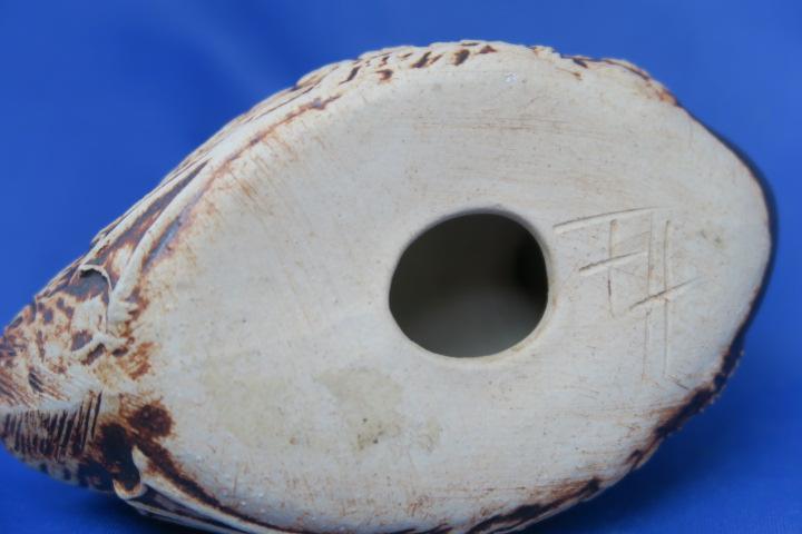 Stoneware Duck signed F.h - Quantock Designs?  Img_2311