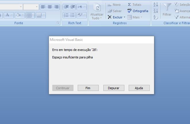 [Resolvido]Erro na execução de tempo Erro_211