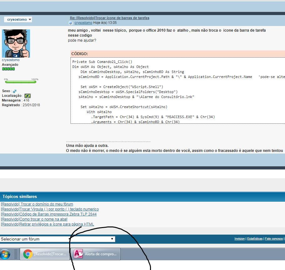 [Resolvido]Trocar ícone de barras de tarefas Sem_tz24