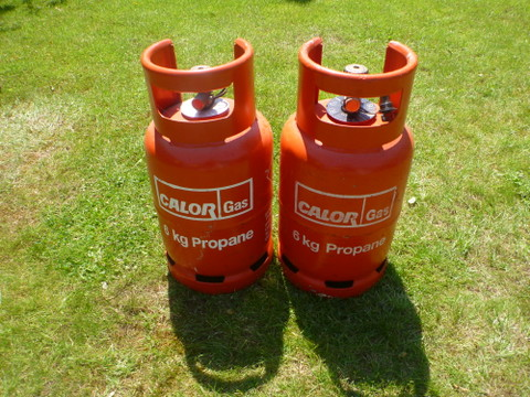 Two Propane Gas Cylinders (SOLD) P1010311