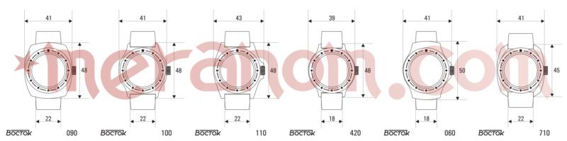 Quelles différences entre les boitiers 710 vintages et modernes Vostok10