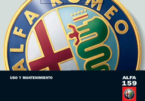 MANUAL USUARIO (español): ALFA ROMEO 159 (2008) 6yecsw10