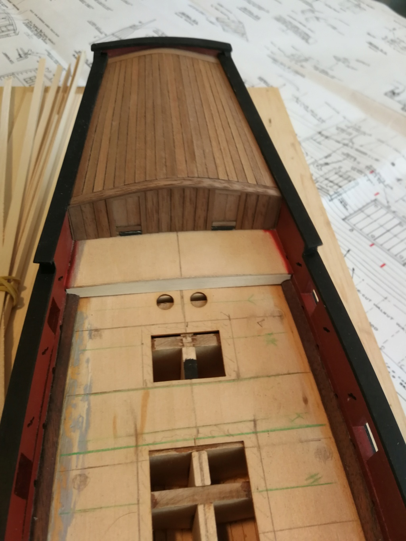 Sloop armé Viriginia - Model Shipways - 1:48 Cabin_10