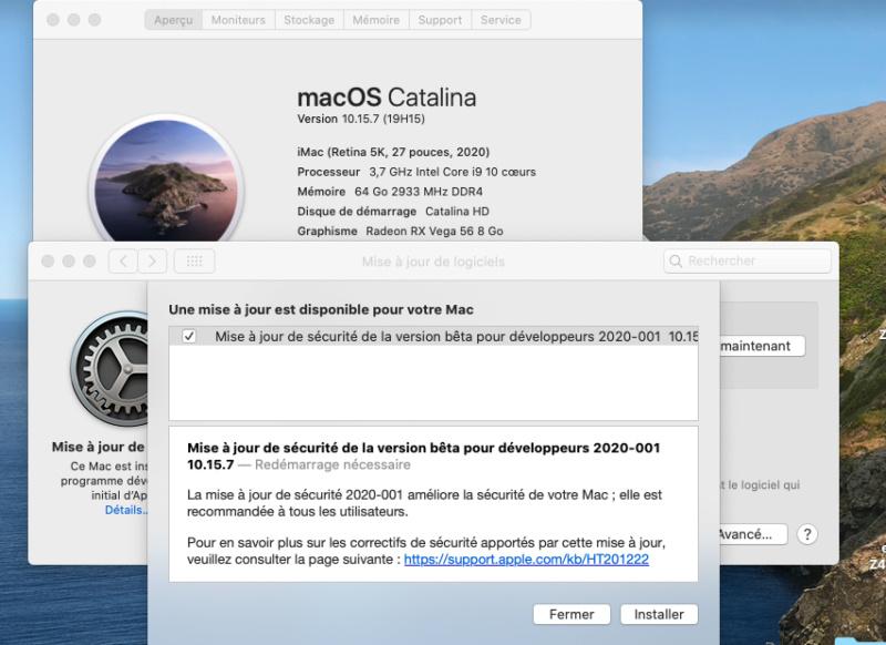 Catalina 10.15.7 beta  Captu160